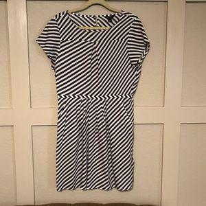 J. Crew Diagonal Stripe Dress